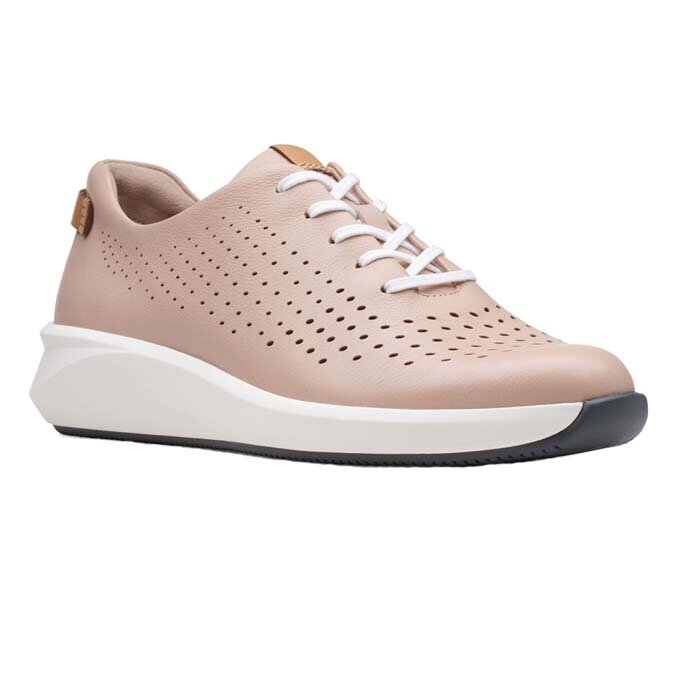 CLARKS UN RIO TIE BLUSH LEATHER 26148715