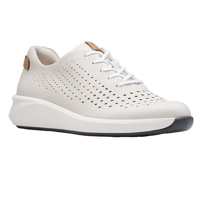 CLARKS UN RIO TIE WHITE LEATHER 26148256