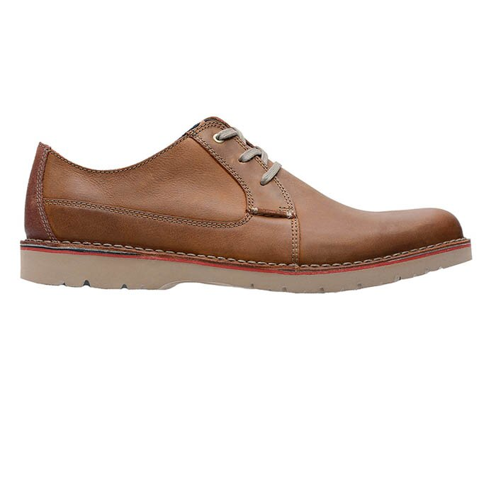 CLARKS VARGO PLAIN DARK TAN 26136676