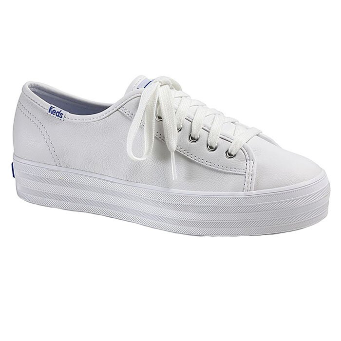 KEDS WH57310 TRIPLE KICK LEATHER WHITE