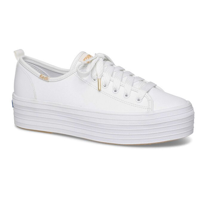 KEDS WH61626 TRIPLE UP LEATHER WHITE