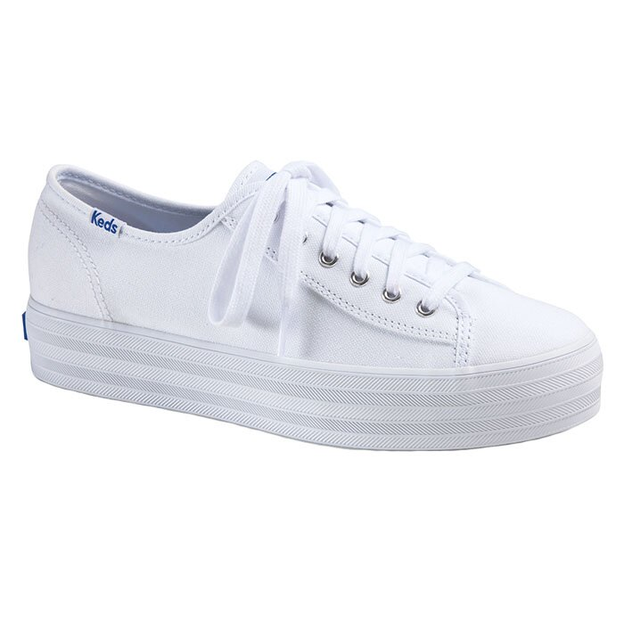 KEDS WF57306 TRIPLE KICK CANVAS WHITE
