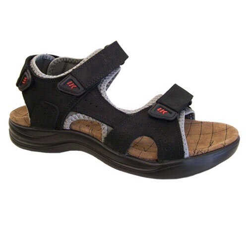 LUMBERJACK 30606 EARTH SANDAL BLACK/ GREY